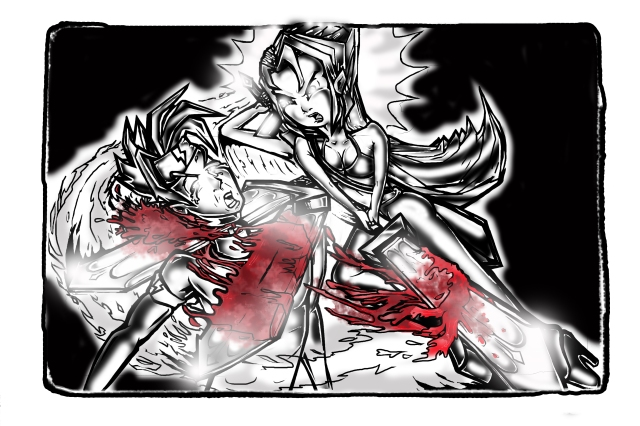 manga red bw 2